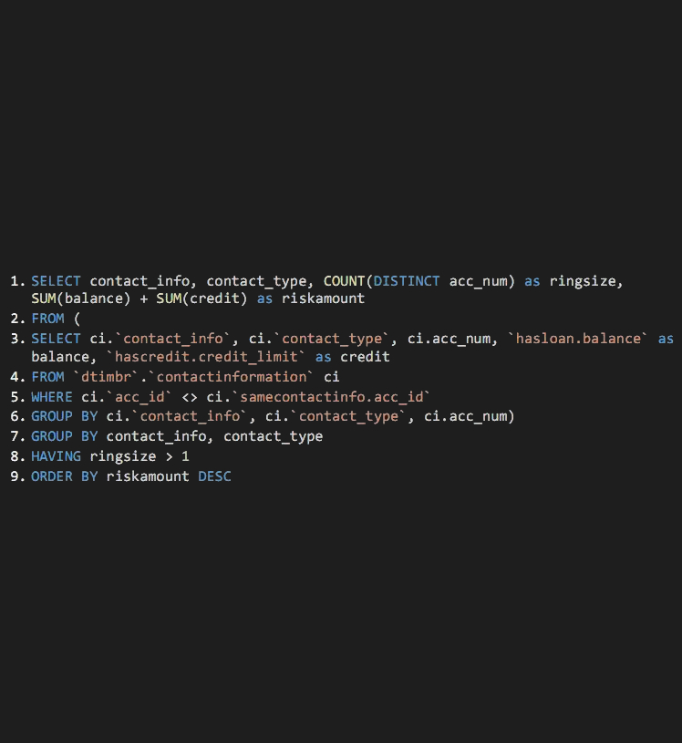 With timbr: 9 lines of SQL